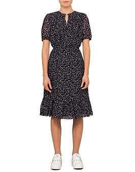 Altuzarra Short Sleeve Floral Midi Dress