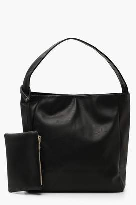 9d8c3816183 boohoo PU Slouch Day Bag With Purse