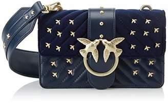 Pinko Mini Love Metal Birds, Women's Shoulder Bag,6.5x12x21 cm (W x H L)