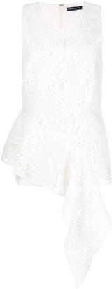Josie Natori Palm lace sleeveless top
