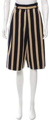 Dries Van Noten Striped Wool Shorts