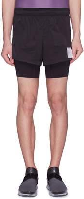 Satisfy 'Short Distance' slogan print running shorts