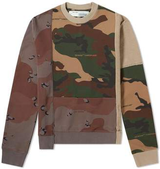 Off-White Off White Reconstructed Camo Crew Sweat