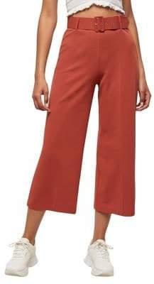 Miss Selfridge Belted Crop Wide-Leg Trousers