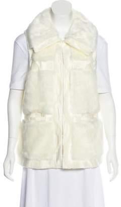Rachel Zoe Faux Fur Pointed Collar Vest