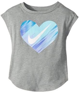 Nike Heart Gradient Morph Short Sleeve Tee Girl's T Shirt