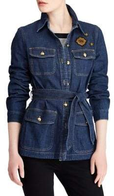 Lauren Ralph Lauren Bullion-Patch Denim Jacket