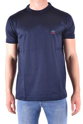 Paul & Shark Men's Blue Cotton T-shirt.