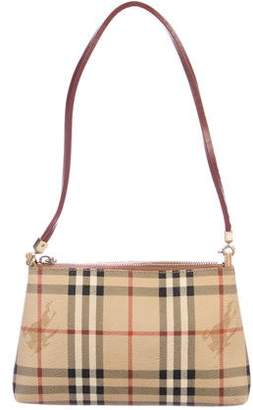 Burberry Haymarket Check Zip Shoulder Bag