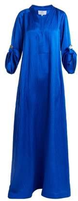 Athena Rebecca De Ravenel V Neck Kaftan - Womens - Blue