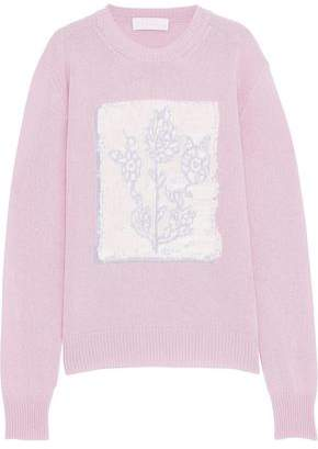 Peter Pilotto Intarsia Wool, Cashmere And Cotton-blend Sweater