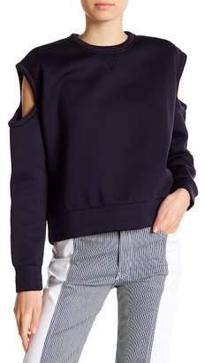 Diesel Cold Shoulder Long Sleeve Sweatshirt
