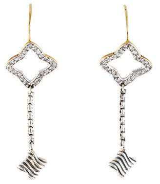 David Yurman Diamond Quatrefoil Drop Earrings