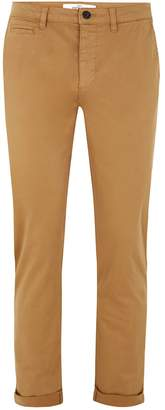 Topman Mustard Stretch Slim Chinos