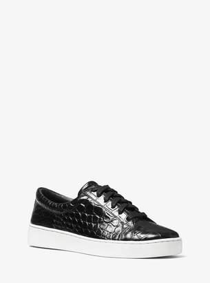 Michael Kors Valin Crocodile-Embossed Leather Sneaker