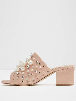 Aldo Pearls Mule With Embellishement