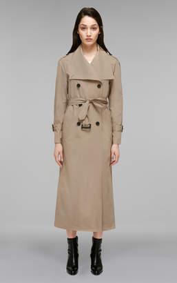 Mackage ENRIKA Lightweight maxi-length belted rain trench coat