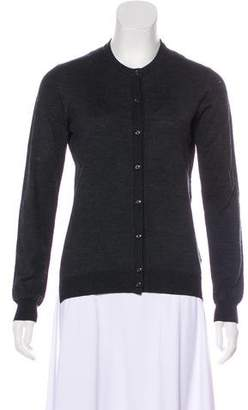 Moncler Wool Button-Up Cardigan
