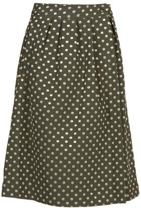 Essentiel Polka Dot Midi Skirt