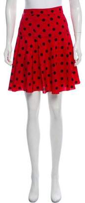 Dolce & Gabbana Silk Polka Dot Skirt w/ Tags