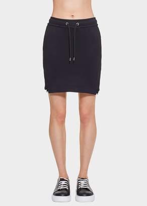 Versace Drawstring Cotton Mini Skirt