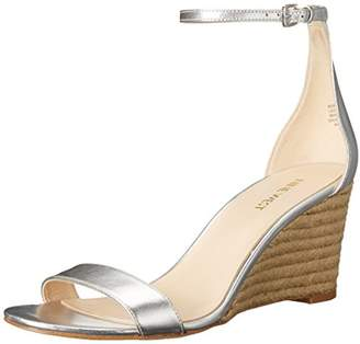 Nine West Women's Nicetoseeu Metallic Wedge Sandal