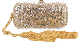 Judith Leiber Tassel-Accented Embellished Clutch $530 thestylecure.com