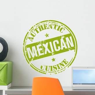 Mural Wallmonkeys LLC Mexican Cuisine Stamp Wall by Wallmonkeys Peel and Stick Graphic (18 in H x 18 in W) WM66829