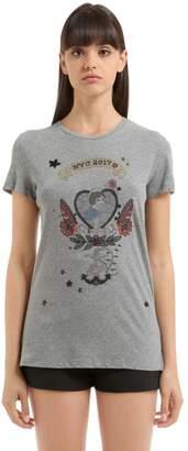 Valentino Embellished Cotton Jersey T-Shirt