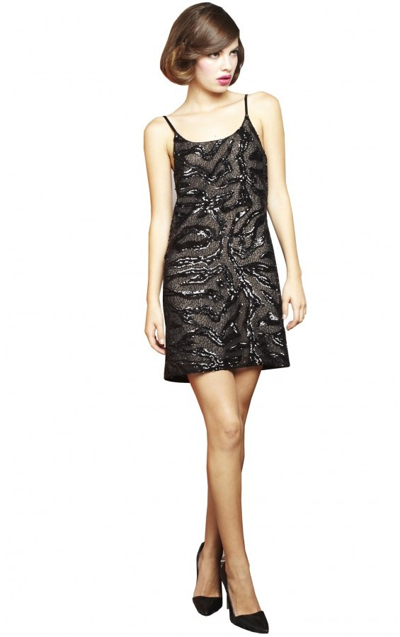 Alice + Olivia Russel Sequin Slip Dress