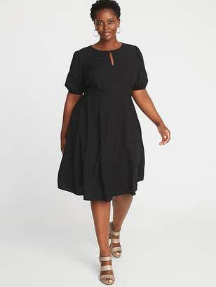 Old Navy Keyhole Fit & Flare Plus-Size Dress