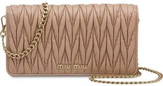 Miu Miu matelassé leather mini-bag