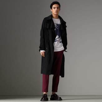 Burberry Detachable Hood Cotton Trench Coat