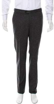 Isaia Speckled Flat Front Dress Pants w/ Tags