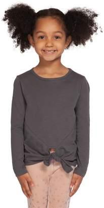 Dex Little Girl's Knotted-Hem Cotton-Blend Top