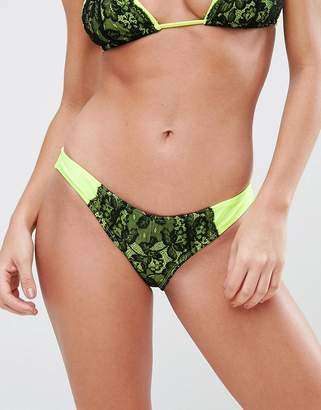 Asos Contrast Lace Hipster Bikini Bottom