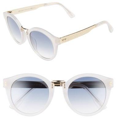 Jimmy ChooWomen's Jimmy Choo 'Pepys' 50Mm Retro Sunglasses - Black