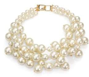Kenneth Jay Lane Faux Pearl Multi-Strand Necklace
