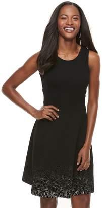Apt. 9 Women's Jacquard Fit & Flare Dress