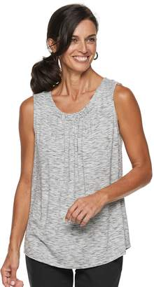 Croft & Barrow Women's Pleated Swing Tank