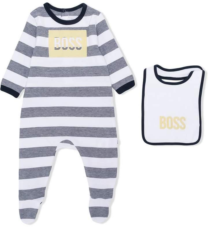 Boss Kids striped romper set