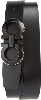 Salvatore Ferragamo Spike Gancini Leather Belt