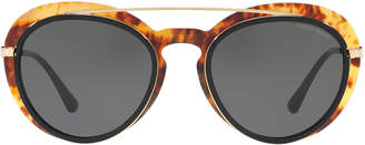 Giorgio Armani Ar6055 54 Yellow Oval Sunglasses