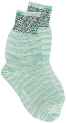 Missoni short knitted socks