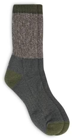 Alaska Knits Women's Marled Crew Boot Socks - Moss 4-10
