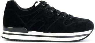 Hogan velvet lace-up sneakers