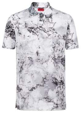 HUGO Boss Slim-fit cotton polo shirt collection artwork S Patterned