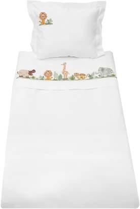 Loretta Caponi Hand-Embroidered Sheet & Pillowcase