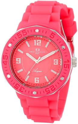 """Oceanaut Women's OC0212 """"Acqua"""" Stainless Steel and Silicone Watch"""