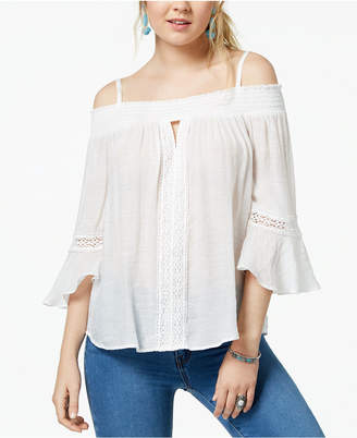 BCX Juniors' Smocked Off-The-Shoulder Top